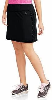 Danskin Now Women's Plus-Size Performance Drawstring Skort w/Ruched Siding Activewear