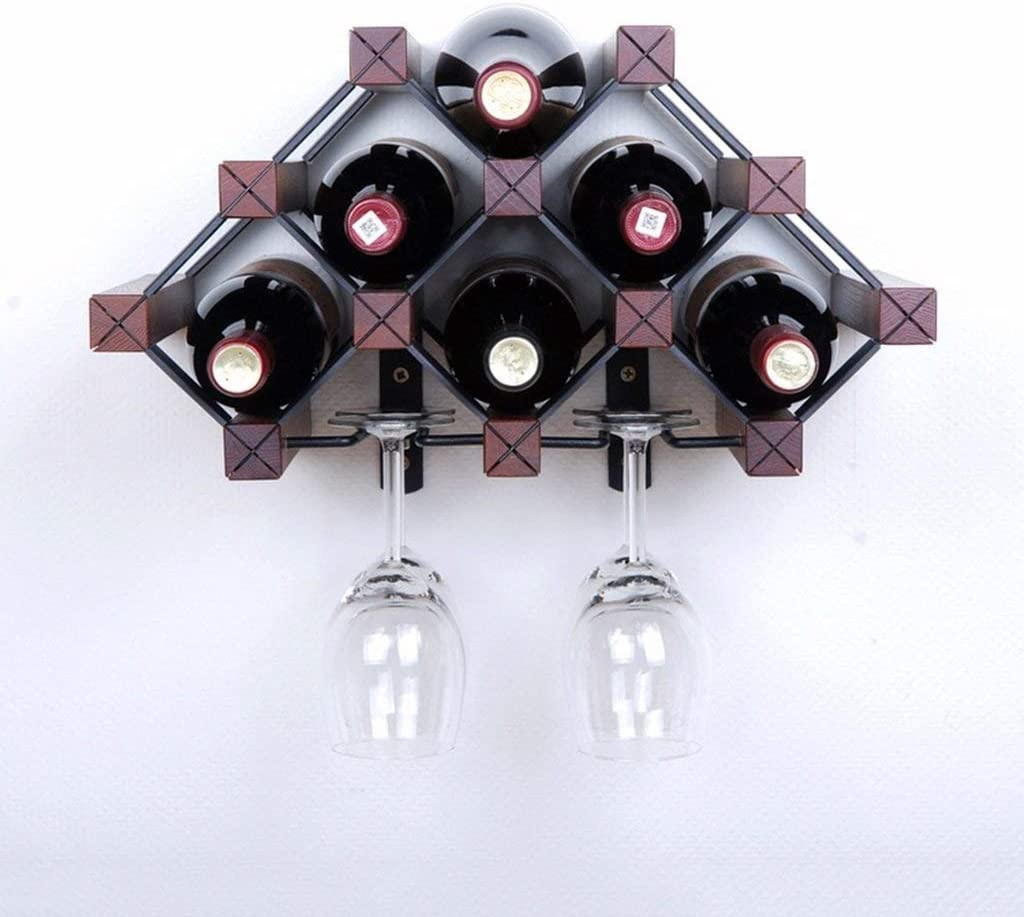CHUNSHENN Don't miss the campaign Wine Rack Peaceip Color Brown Bronze Wood Price reduction Holder K Cup