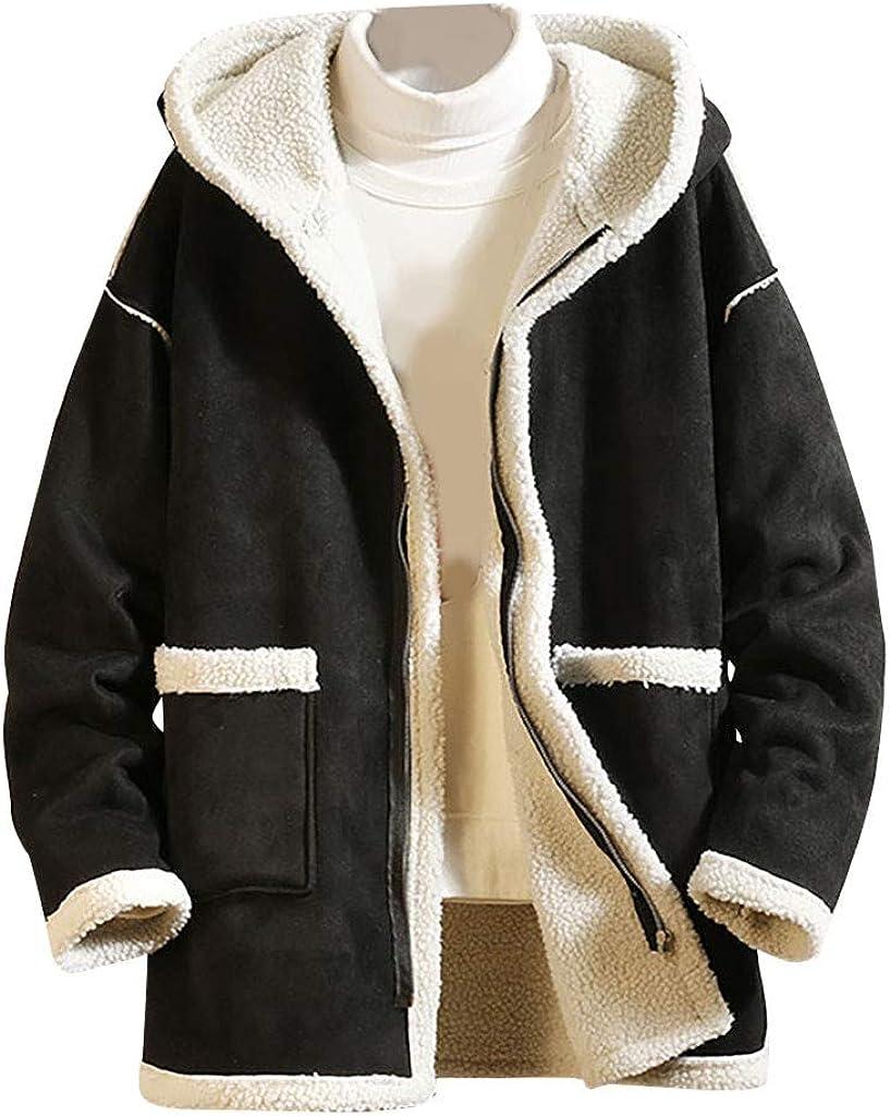 Men's Luxury goods Winter Solid Color Plus Jacket Casual San Francisco Mall Fleece Long-Sle Coat