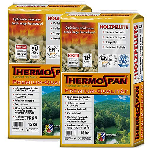 THERMOSPAN Premium Holzpellets 2x 15 Kg
