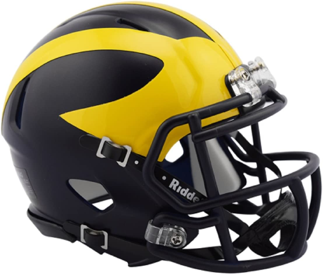 Michigan Detroit Mall Wolverines 2016 Low Gloss High quality NCAA SPEED Riddell Revolution