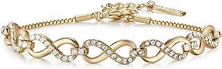 MESTIGE Women Crystal Gold Only You Bracelet with Swarovski Crystals