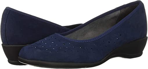 Navy Faux Suede
