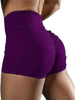 desolateness Women Yoga Shorts Ruched Sport Gym Workout Push up High Waist Shorts Butt Lifting Hot Pants