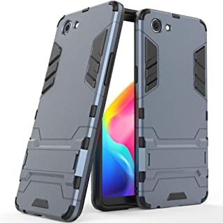 Case for RealMe 1 / Oppo F7 Youth / A73S (6 inch) 2 in 1 Shockproof with Kickstand Feature Hybrid Dual Layer Armor Defender Protective Cover (Blue Black)