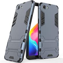 MaiJin Case for RealMe 1 / Oppo F7 Youth / A73S (6 inch) 2 in 1 Shockproof with Kickstand Feature Hybrid Dual Layer Armor Defender Protective Cover Black MJ2in1