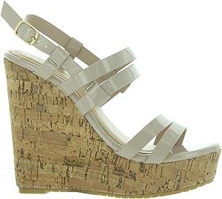 Pierre Dumas Women Platform Wedge Sandals Hera-2 High Heel Cork Mules Slides