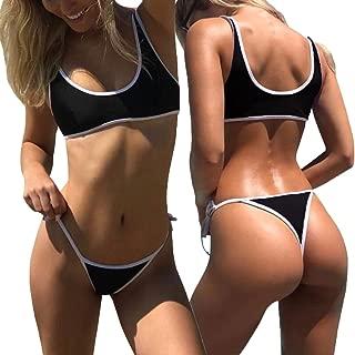 Sexy Womens Brazilian Thong Bikini Sets Padded Swimsuit Swimwear