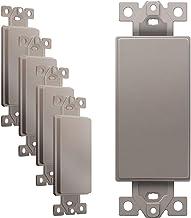 ENERLITES Adaptador em branco para placas de parede decorativas, termoplástico de policarbonato inquebrável, listado na U...