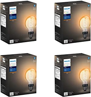 Philips Hue Filament Vintage G25 Globe with Bluetooth - 4pack