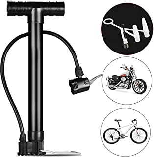 Bicycle Pump High Pressure,Portable Mountain Bike Electric Bike Motorcycle Car Basketball Inflator,Bicycle Accessories 120...