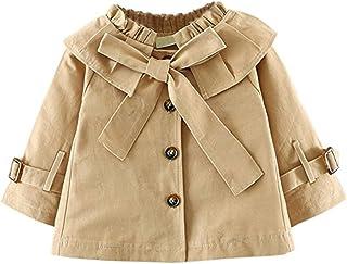 JIANLANPTT Baby Girls' Toddler Spring Autumn Trench Coat Solid Overcoat Windproof Jacket