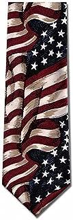 Large Waving American Flag Silk Tie Necktie
