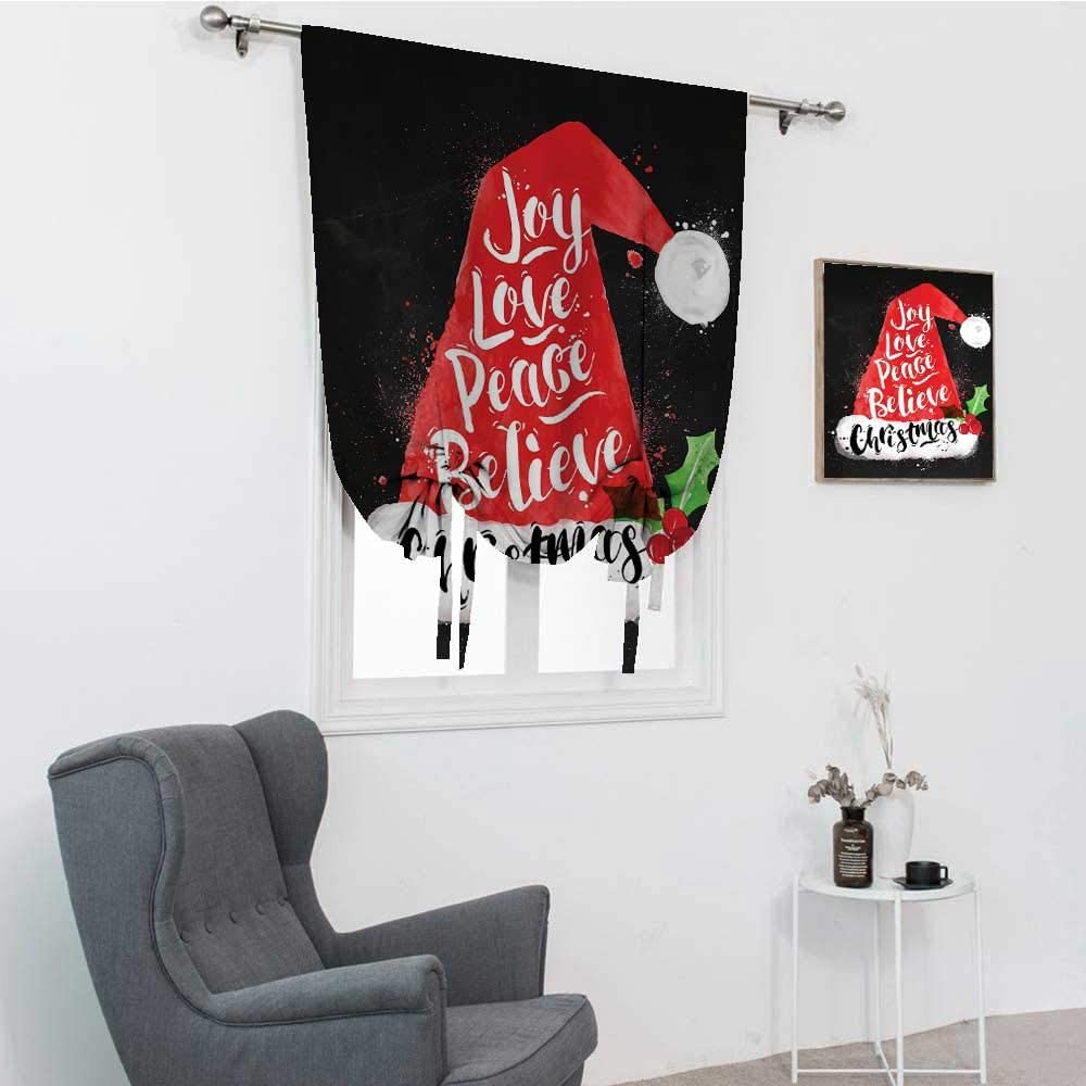 GugeABC Santa Rapid rise Roman Max 86% OFF Shades for Xmas Windows with Hat Lettering