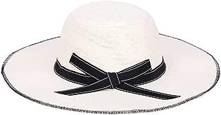 Hat Big Along The Hat Distaff Summer Folding Sunscreen Ladies Visor Fashion Unproblematic Beautiful (Color : White)
