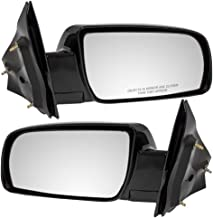 Driver and Passenger Manual Side View Below Eyeline Ready-to-Paint Mirrors Replacement for Chevrolet GMC Van 15757377 15757378 AutoAndArt
