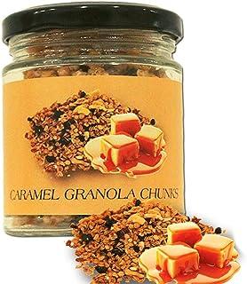 BOGATCHI Snacks Caramel Granola Chunks - Gluten Free | Vegan |Snacks with Oats, Cornflakes, Almonds, Honey, Cranberry, 100g
