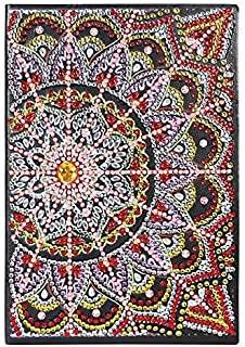 Leather Cover Journal, DIY Mandala Special Shaped Diamond Painting 50 Sheets Students A5 Notebook, Organizer Notebook to Track Art, Gift for Back to School, Birthday, Christmas, Hollow, Easter