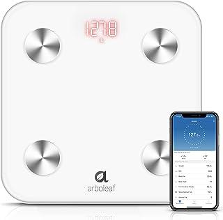 مقیاس دیجیتال Arboleaf WiFi و مقیاس هوشمند بلوتوث مقیاس وزن حمام BMI مقیاس 14 ترکیب بدن با برنامه گوشی های هوشمند کاربران نامحدود تشخیص خودکار