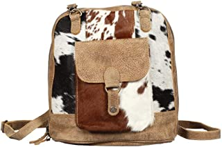 Myra S1371 Leathered Pocket Backpack Bag, Brown, One Size