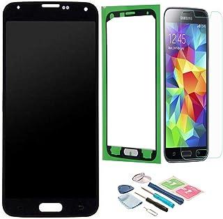 daf175bf36c Pantalla LCD Táctil Asamblea Repuesto Compatible con Samsung Galaxy S5  Negro con Herramientas + Película Templada