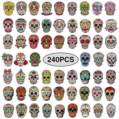 50pcs Vinyls Sticker Suglar Skull Stickers Skateboard Laptop Luggage Decals Set