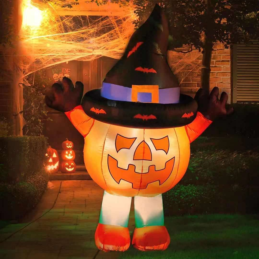 Dowuz 6FT Halloween Inflatables Pumpkin Hat Witch Ghost New life with Max 61% OFF Cu