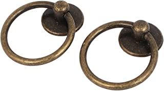 uxcell a16062000ux0481 Uxcell a16062000ux0481 Cupboard Cabinet Drawer Rings Pulls Knob Bronze Tone 2pcs, Bronze Pack of 2