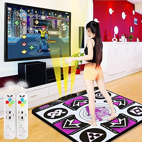 PANXIA Tappetino da Ballo Wireless per Bambini Musica per Adulti Dance Pad 89x81cm TV HD Computer A Doppio Uso