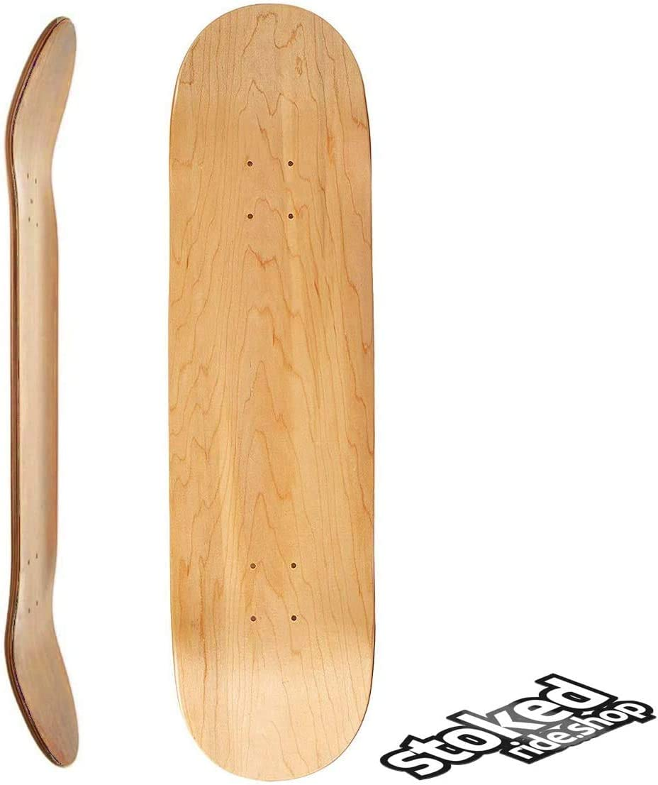 OFFicial Stoked Ride Rapid rise Shop Blank Skateboard Professional 7-Ply Grad Deck -