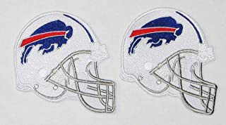 LOT of (2) New NFL Buffalo Bills Embroidered Helmets Patches 3 1/2