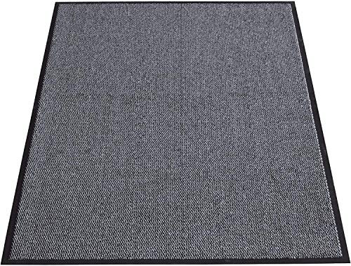 TrendMakers Machine Washable Grey Black Heavy Quality Non Slip Hard Wearing Barrier Mat/Dirt Trappers. Available in 8 sizes (60cm x 120cm)