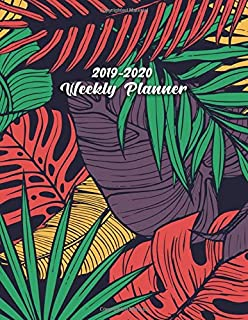 2019-2020 Weekly Planner: Cute Tropical Banana Leaves & Ferns Daily, Weekly and Monthly Planner. Pretty Two Year Organizer, Schedule and Agenda with ... Quotes, Notes, To-Do's, Vision Boards, ...