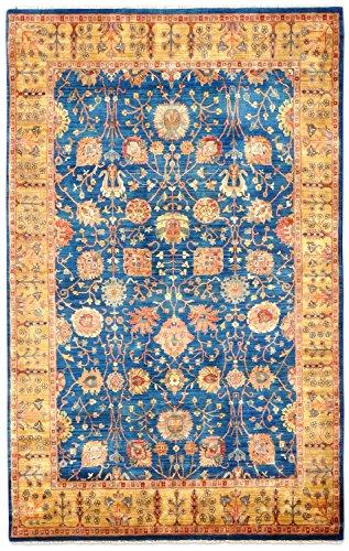 Thomas Samarkand Indien Orientteppich blau | Neuseelandwolle - 201 x 298