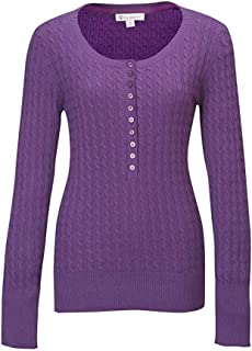 Lilac Bloom Ladies Audrey'Cable Knit Cotton Sweater