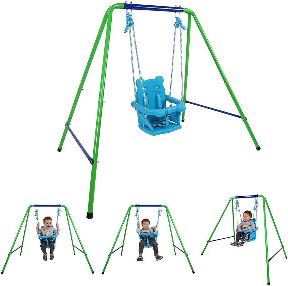 Baby Indoor/Outdoor Swing Metal Swing Sets for Backyard Outdoor