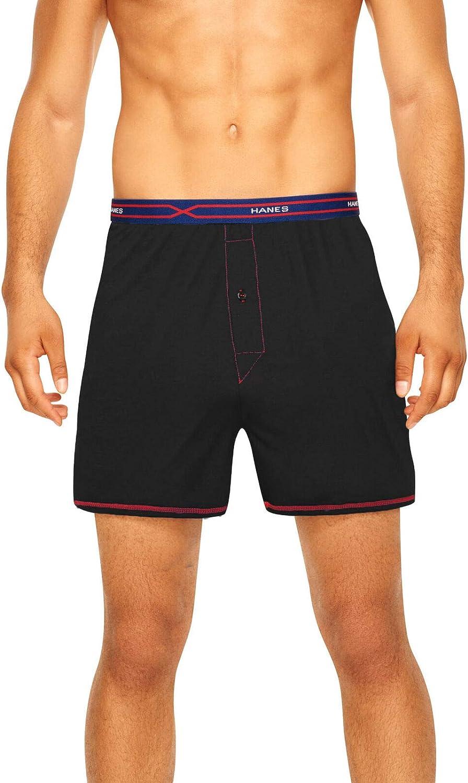 Hanes Men`s Knit Boxers X-Temp Active Cool, Assorted Colors, Size XX-Large
