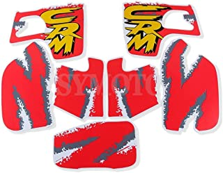 For Honda CRM250 CBM250AR CMR 250R 1992-1998 CR 250 Motocross Off Road CRM250 Fuel Tank Decals Graphic Sticker Decals (Red)