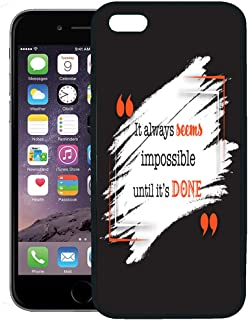 Semtomn Phone Case for iPhone 8 Plus case,Quotation Stroke Quote Conceptual Brackets Brush Ink Painting Bubble Creative iPhone 7 Plus case Cover,Black
