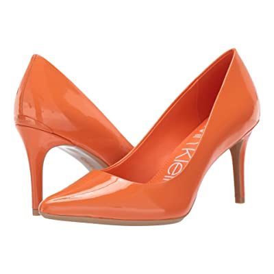Calvin Klein Gayle Pump (Orange Popsicle Patent) High Heels