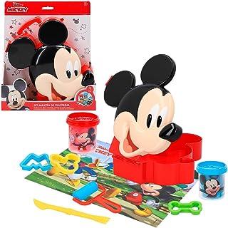 Disney – Pâte à Modeler pour Enfants 3 Ans avec Accessoires et moules en Plastique Non Toxique Souple Motif Mickey Mouse