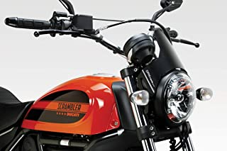 Ducati Scrambler 400 - Kit Windscreen 'DarkLight' (D-0200) - Aluminum Windshield Fairing - Easy to Install - De Pretto Moto Accessories (DPM Race) - 100% Made in Italy