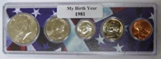 1981-5 Coin Birth Year Set in American Flag Holder Uncirculated