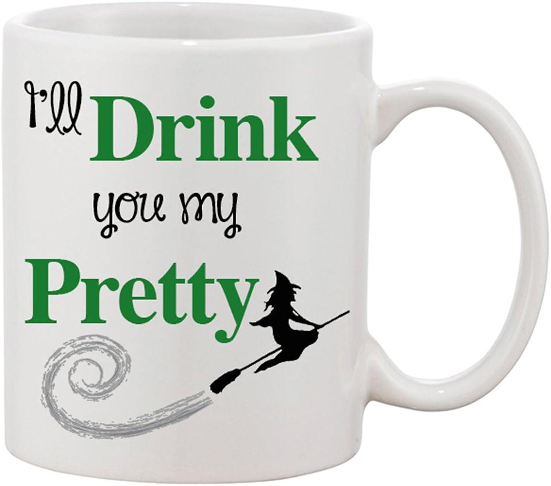 I'll Drink You My Pretty 11 oz. Ceramic Coffee Mug  Enjoy a Cup of Wickedly Good Joe