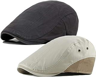 Qunson 2 حزمة الرجال القطن المسطحة كاب ايفي جاتسبي نيوزبوي قبعة