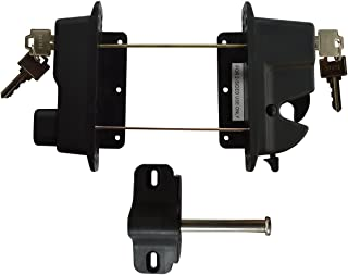 Keystone Black Nylon Polymer Key-Lockable Latch | 2 Sided | Keyed Alike | KLADV-P2-BK-KA