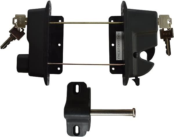 Keystone Black Nylon Polymer Key Lockable Latch 2 Sided Keyed Alike KLADV P2 BK KA