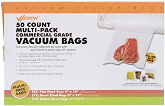 Weston Brands Vacuum Seal Multi Pack Assorted Sizes 2-Ply 3.0 mil Bags