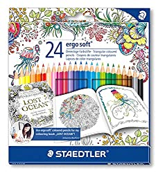 johanna basford exclusive packaging or 24 ergosoft colored pencils