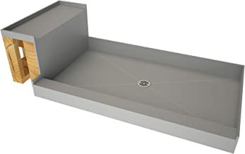 Tile Redi USA 3448C-RB34-KIT Base'N Shower Pan and Bench, 60